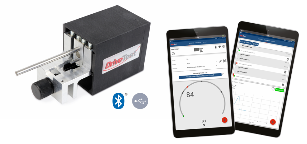 Kabellose Schließkraftmessung - DriveTest FM 205 BT