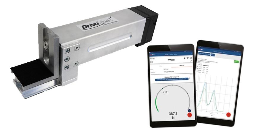 Kabellose Schließkraftmessung - DriveTest FM 200 BT